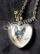 german shepherd art pet portrait